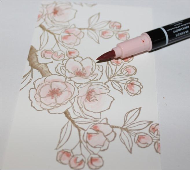 Stempel Motiv colorieren Technik 06