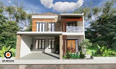 desain atap rumah satu setengah lantai