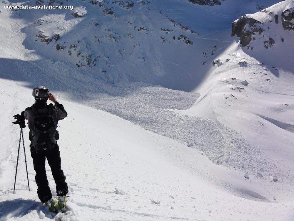 Avalanche Aravis, secteur Pointe de Chombas, Combe de Chombas - Photo 1 - © Beuze Jean-François