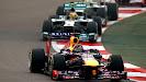 1st lap Sebastian Vettel, Red Bull RB9 ahead of the field