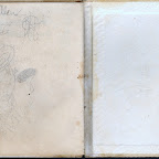 Inside back cover of Julia Gleaves and Charles Allen wedding book.