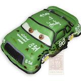 45. kép: Formatorták (fiúknak) - Verdák zöld versenyautó