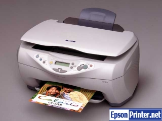 How to reset Epson CC-570L printer