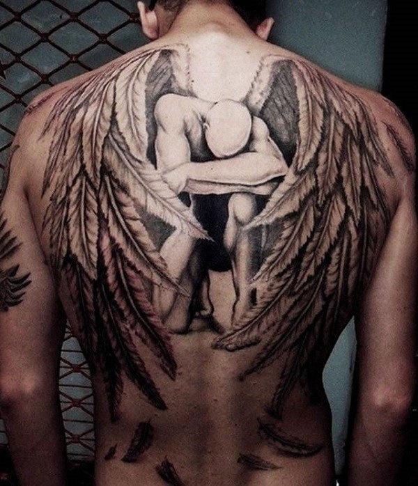 o_anjo_cado_tatuagem