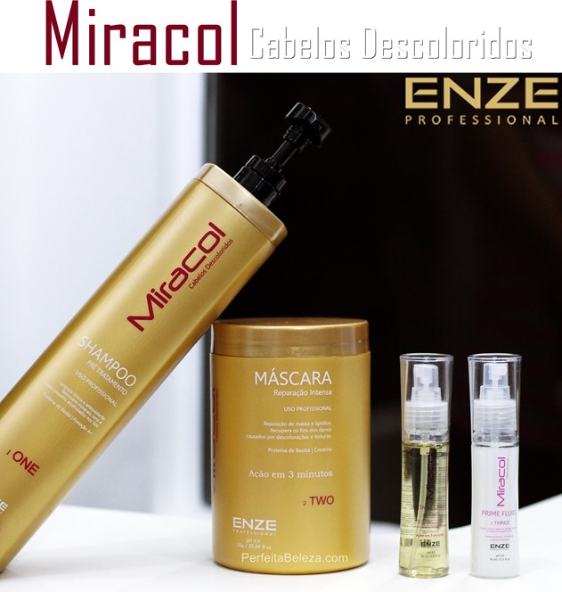 Miracol para cabelos descoloridos Enze