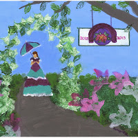 1st -E_Belle in the garden_on canvas