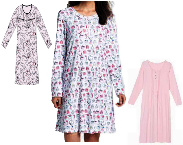 Ladles Nightgown Long Sleeve