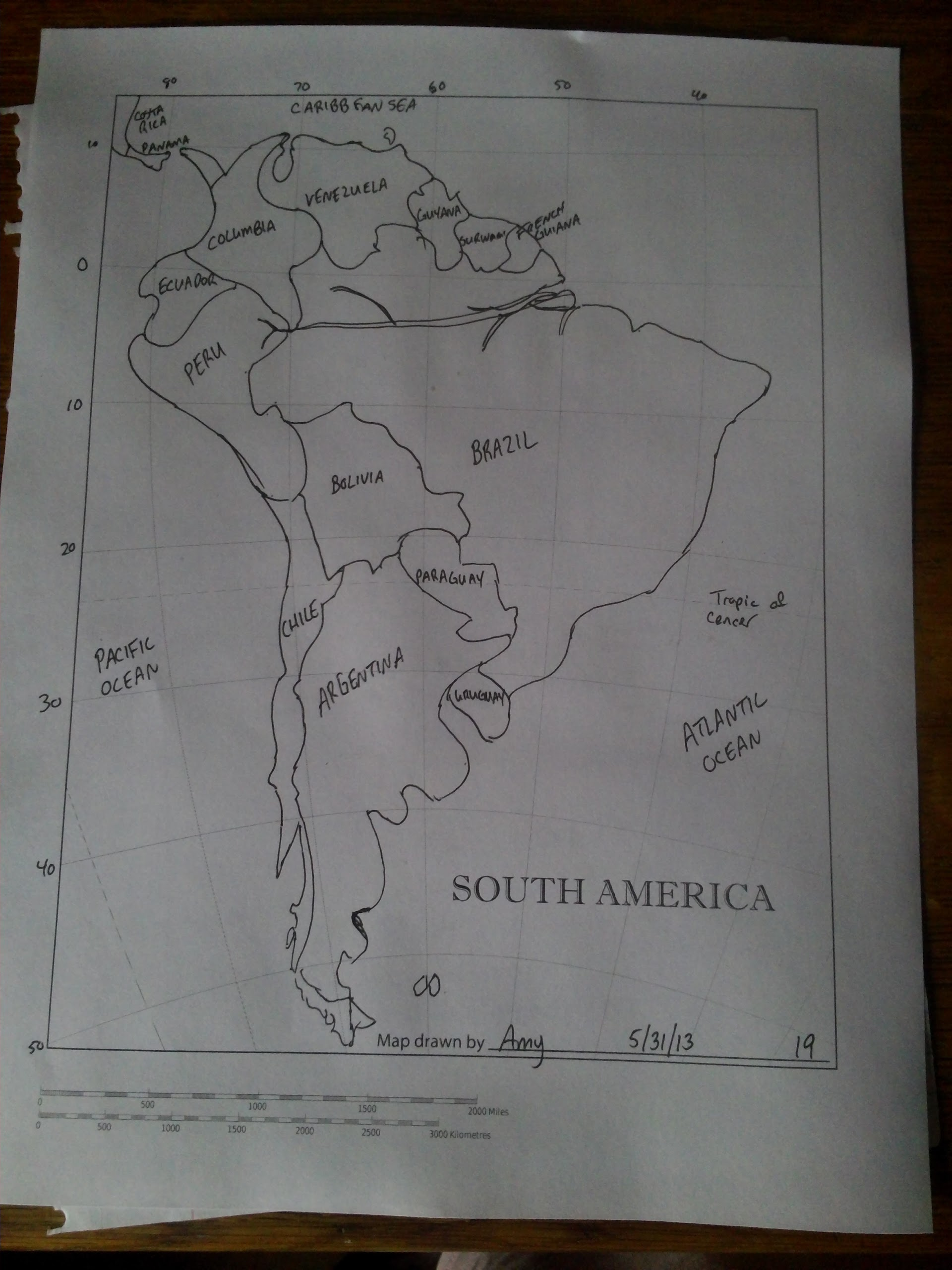 Map Drawing Trial: South America – Crossing the Brandywine