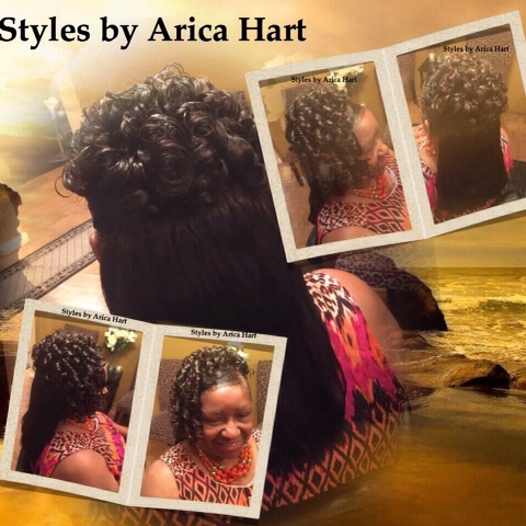 Protective hair styles, sewin style, weave