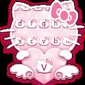 😍Pink Kawaii Kitty Keyboard Theme icon