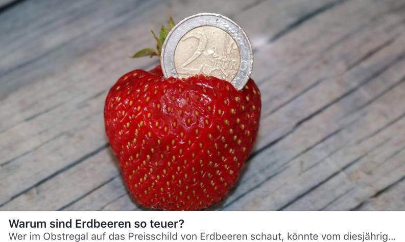 Warum sind Erdbeeren so teuer?