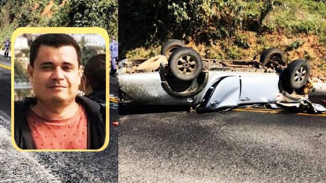 Irecê: Empresário morre em grave acidente na BA-052
