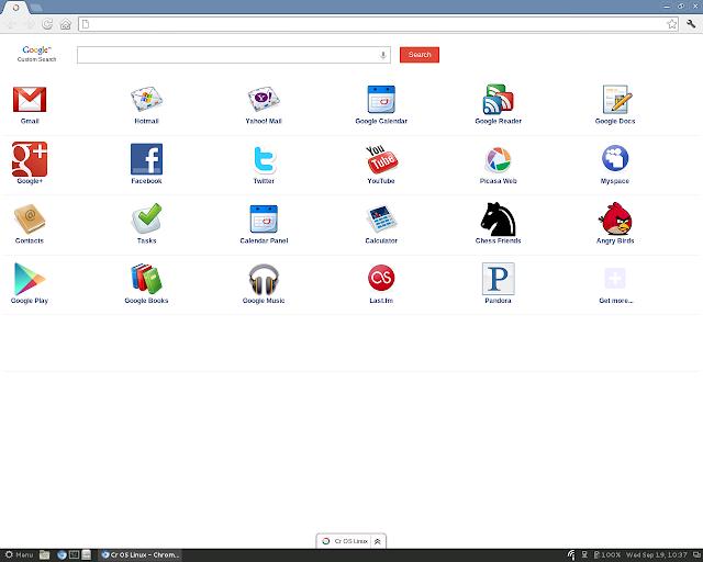 Cr OS Linux Screenshot