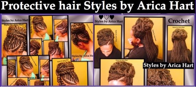 Protextive styles image, braids, crochet braids
