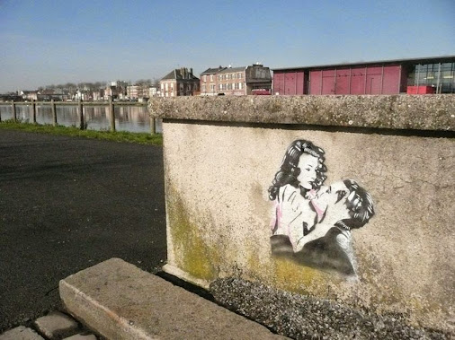 GILDA (1946) by artist PAUL FAYT in Saint-Quentin, FRANCE  Gilda is an American black-and-white film...