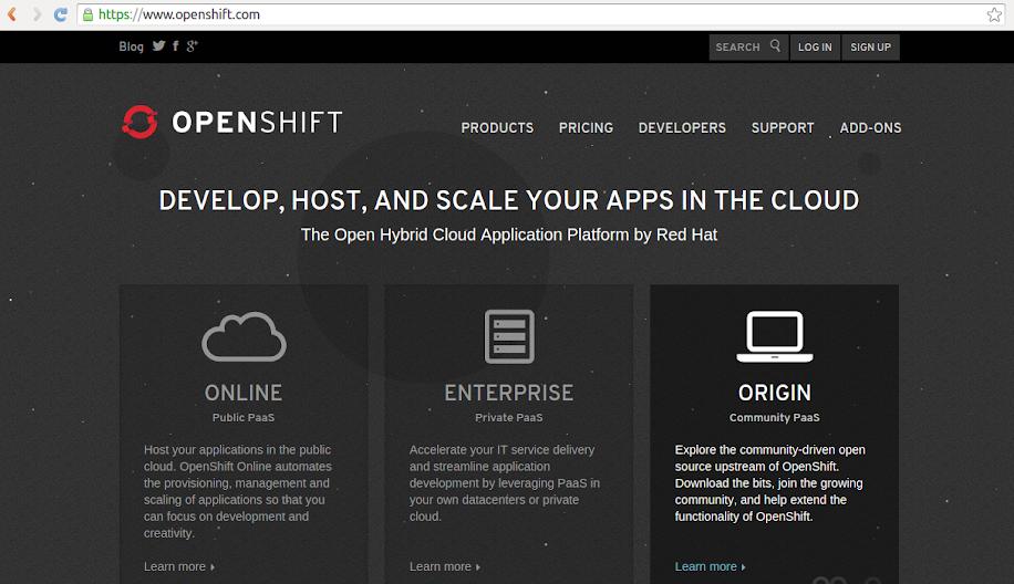 Website Openshift