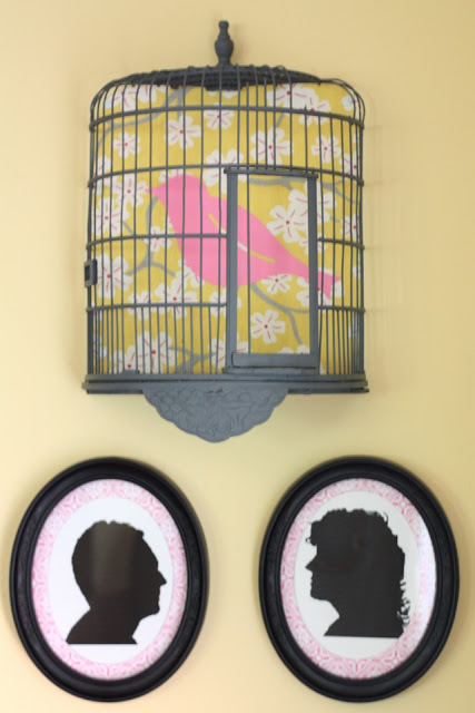 Birdcage on the wall