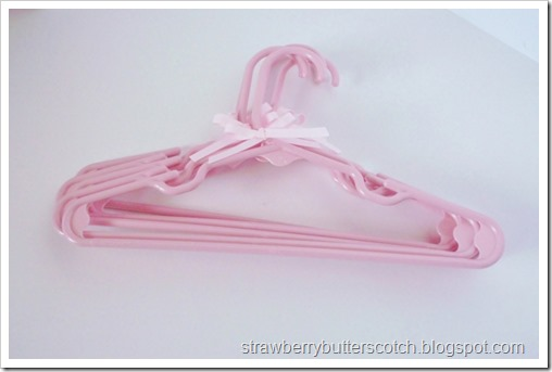 Add a bow to make cute hangers.