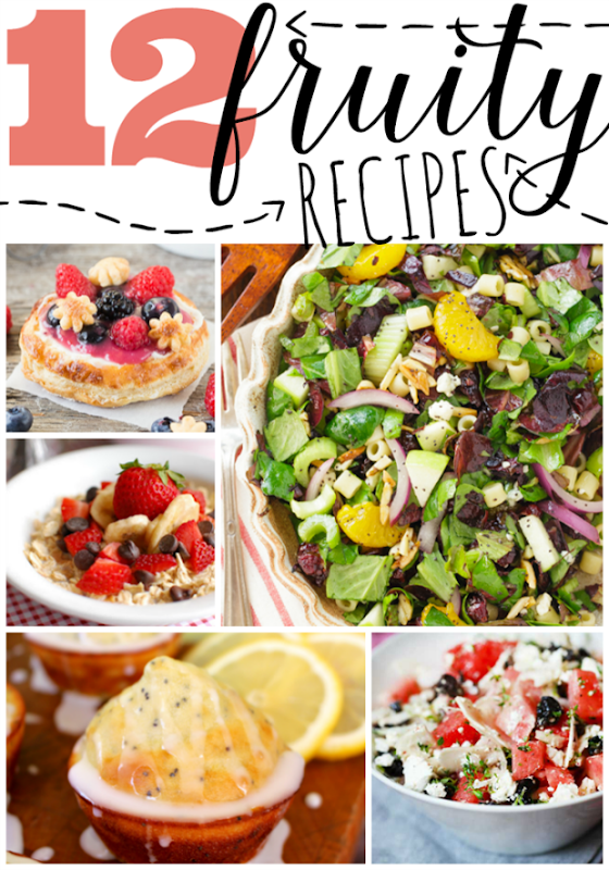 12 Fruity Recipes at GingerSnapCrafts.com #fruit #recipes