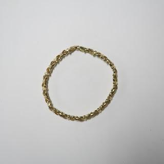 14K Gold X Bracelet