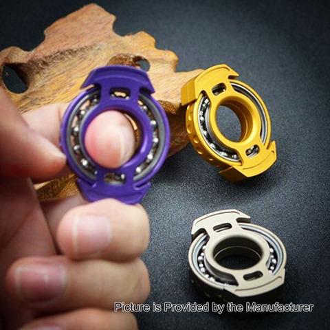 metal-worn-reactor-style-hand-spinner-fidget-toy-edc-beige-aluminum-6804-bearing