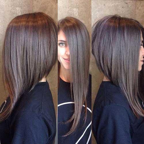 Wavy Long Inverted Bob Hairstyle   Fashion Qe