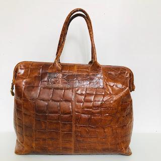 Furla Oversized Vintage Brown Bag