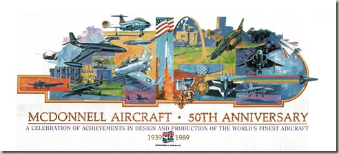 McDonnell Aircraft 50th Anniversary Poster25