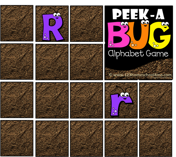 Capital Lower Case Alphabet Game