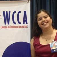 Amanda Aouad no WCCA (VIII World Congress on Communication and Arts) - 2015