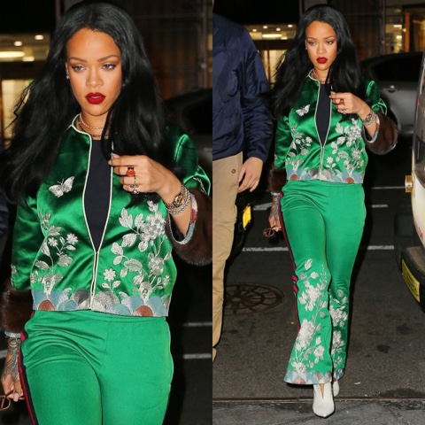 db6b787efb48b Rihanna Takes Over Soho Wearing Gucci's Spring 2016 Embroidered ...
