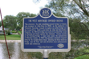 West Montrose covered bridge placard