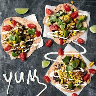 Chicken Tacos Black Beans, Avo, Corn & Cherry Toms