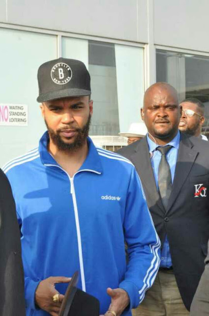 "Singer Jidenna Arrives Nigeria For The Heineken ""Live Your Music"" Show (Photos)"