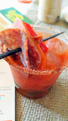 Portland Monthly Country Brunch 2015, Bloody Mary Smackdown entry from Doug Fir with The Antidote, a combination of spicy, smokey, sweet and tart flavors