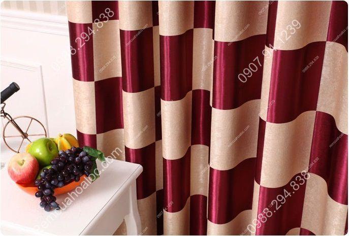 Rèm cửa cao cấp tại hà nội họa tiết bàn cờ vua 2