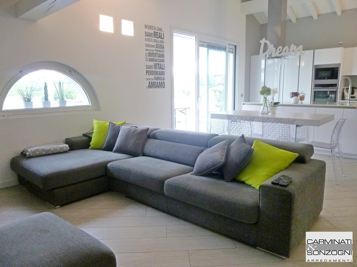 Casa a Filago Bergamo, zona salotto pranzo dopo la ristrutturazione.JPG