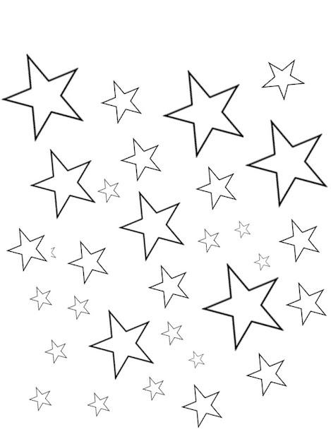 Star Coloring Sheets