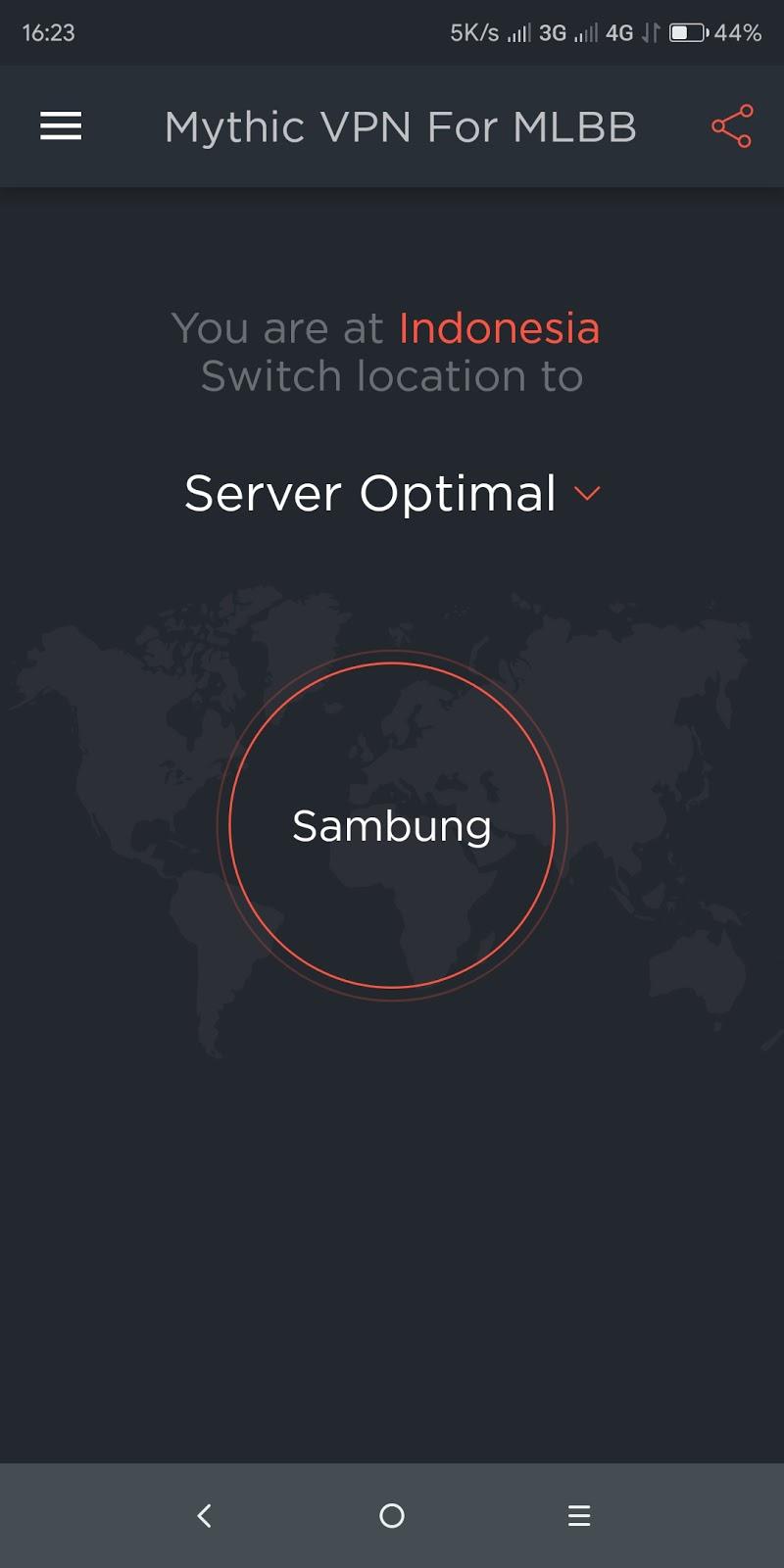 Mythic VPN For Mobile Legends Bang Bang