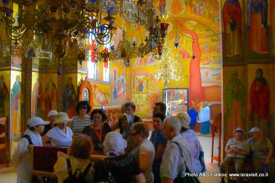 Экскурсия в Галилее. Церковь 12 апостолов. Гид Светлана Фиалкова.