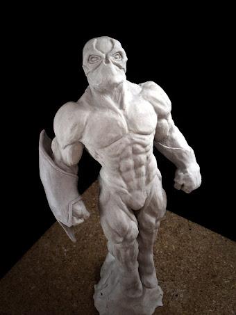 Escultura en arcilla polimérica de Spawn
