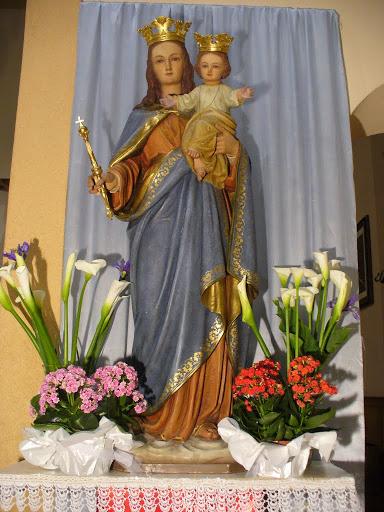 La statua di Maria Ausiliatrice dell'Oratorio