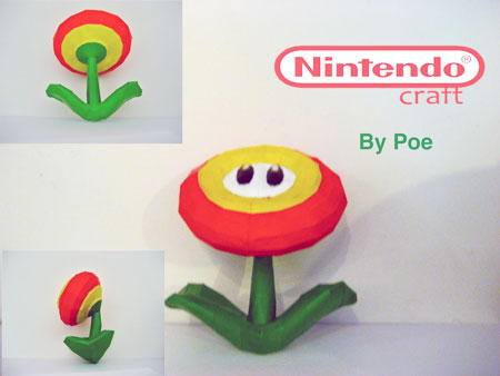 Super Mario Galaxy Fire Flower Papercraft