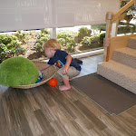 LePort Preschool Huntington Beach - Young toddler exploring textures - Montessori baby childcare