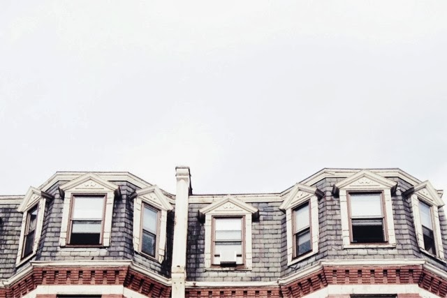 boston, brownstones, roof, windows, new england