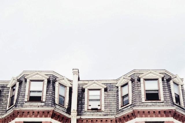 boston, brownstones, roof, windows, new england