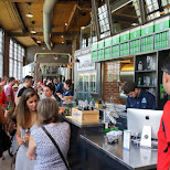 free beer at the Steam Whistle Brewery in Toronto in Toronto, Ontario, Canada