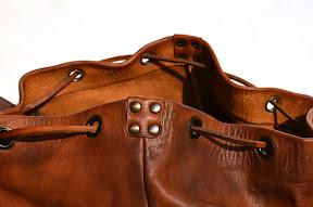 Рюкзак коричневый ручной работы из настоящей кожи. № 130 S4