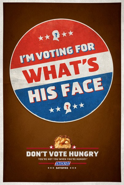 Snickers Does Not Want You To Vote Hungry
