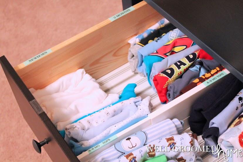 organized nursery dresser